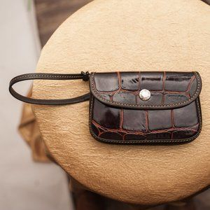 DOONEY & BOURKE BAG | VINTAGE CROC WRISTLET PURSE